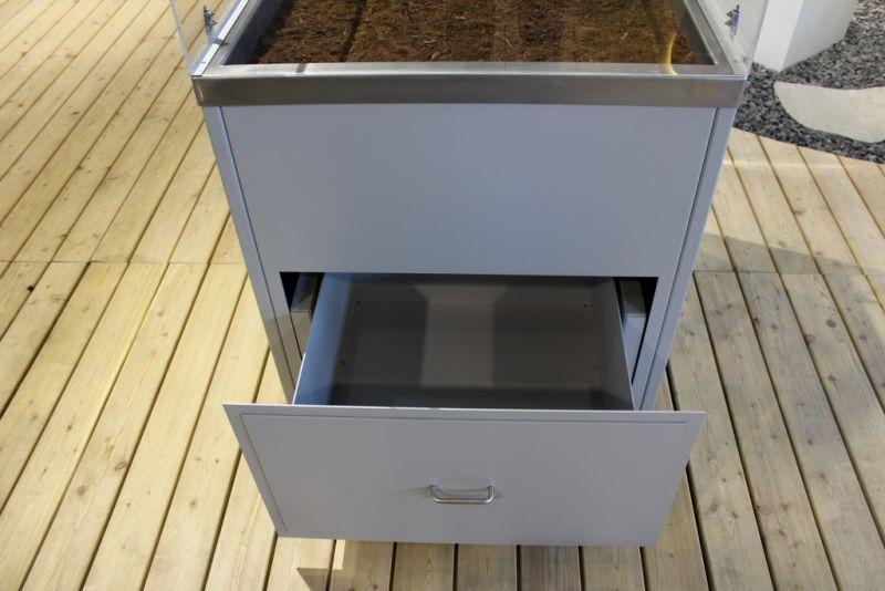 gartenm bel und schr nke aus metall rohner ag teufen. Black Bedroom Furniture Sets. Home Design Ideas