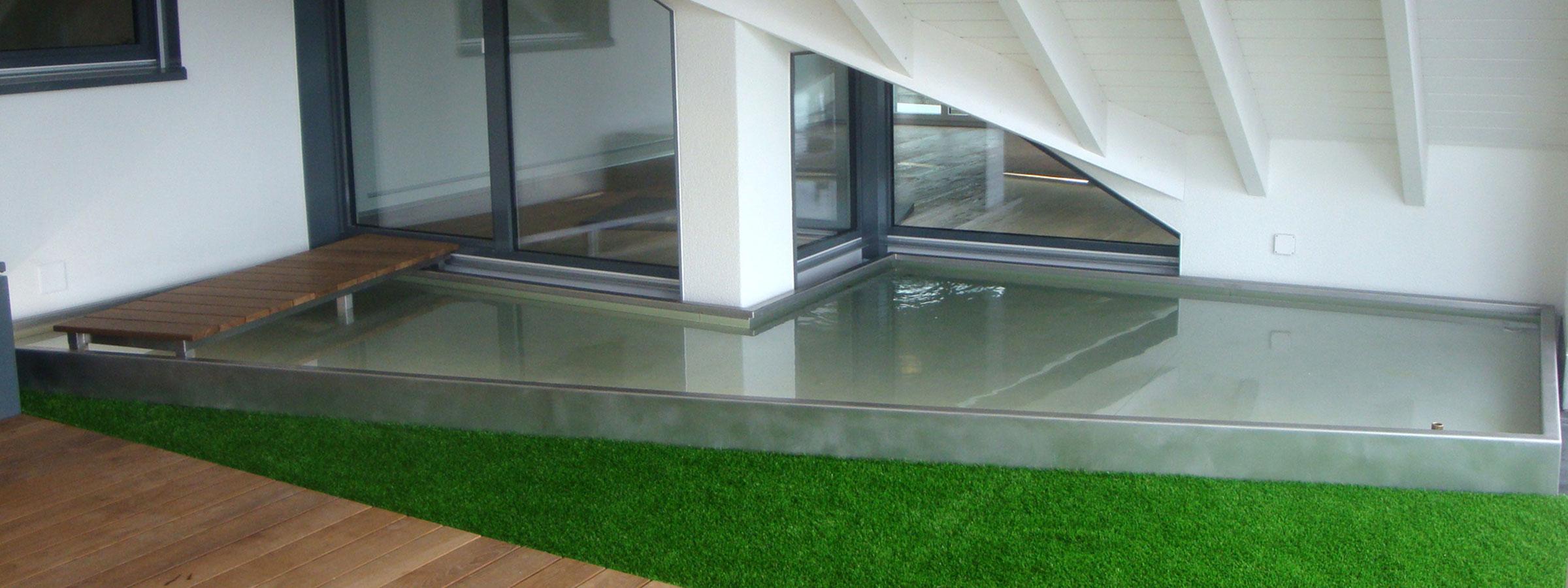 wasserspiel balkon swalif. Black Bedroom Furniture Sets. Home Design Ideas